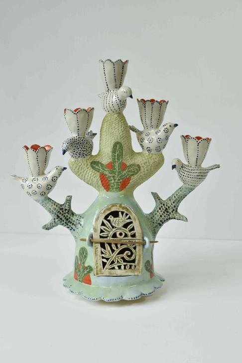 Five birds candelabra with shrine