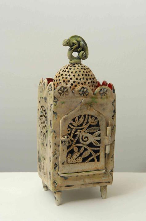 Indian Shrine Box with Chameleon