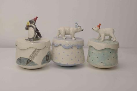 Polar animals small boxes
