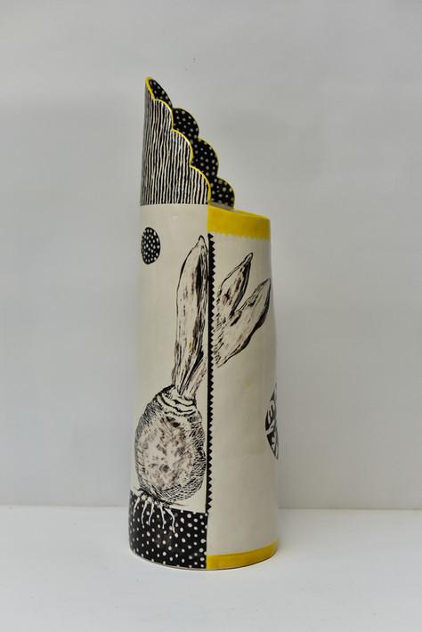 Tall cylindrical jug with tulip bulb.jpg