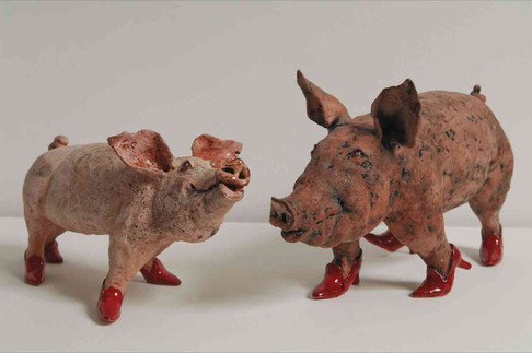 Pig and Piglet in Red Heels