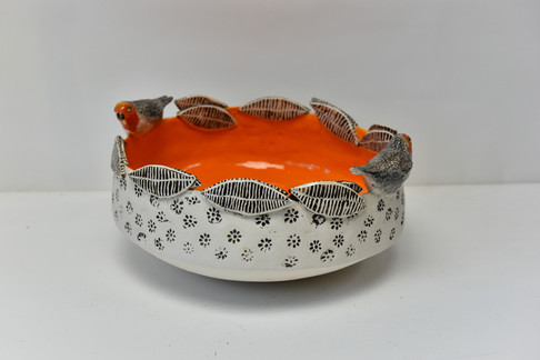 orange bowl with leaves and robins.jpg