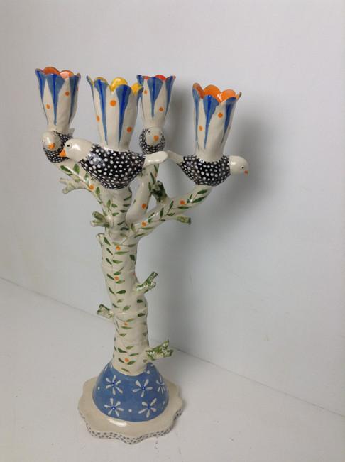 tree-like candelabra, black and white bi