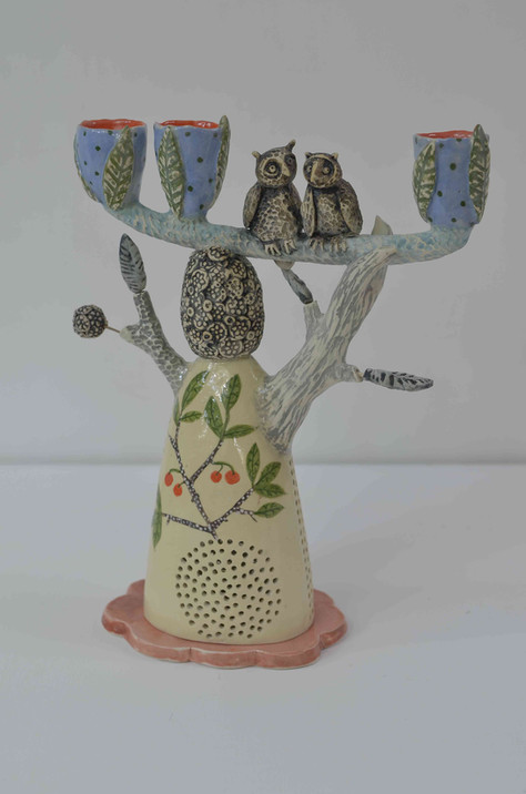 Owls Candelabra