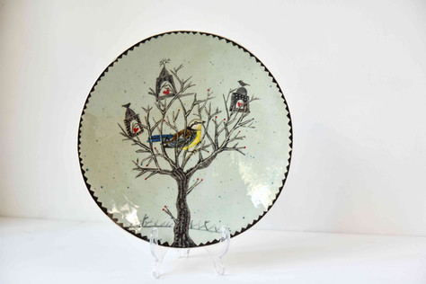 Treehouse and bird plate.jpg