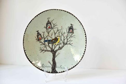 Treehouse and bird plate.jpg