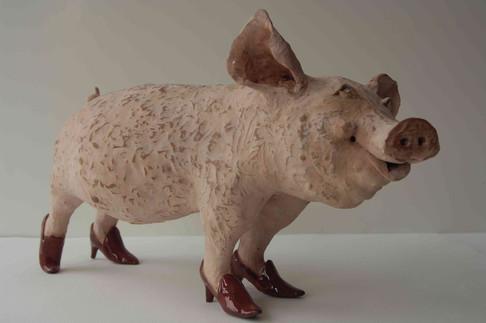 Pig in Red Heels