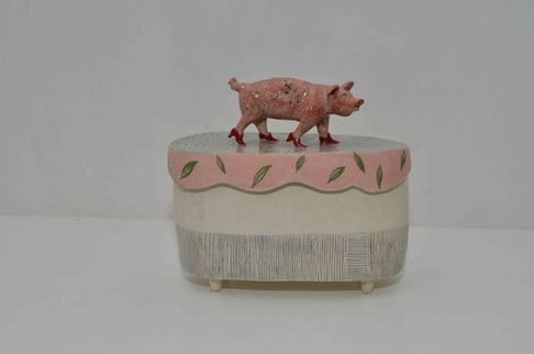 Red Heels Pig Box