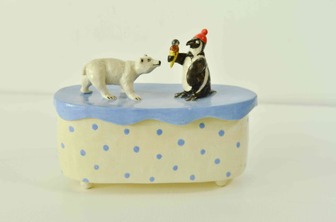 Polar Bear and Penguin Box