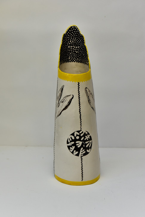 Tall cylindrical jug with tulip bulb 2.j