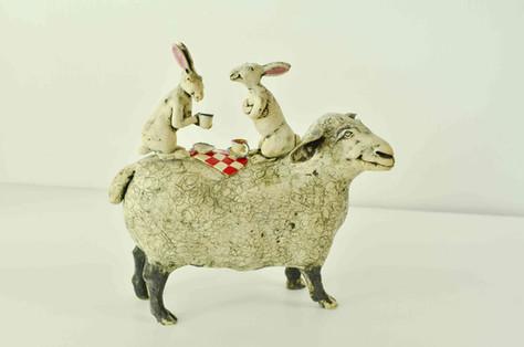 Picnicking Hares