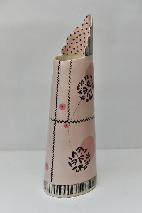 tall vase with sylised seed head.jpg