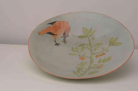 Red Bird, Wasp Plate.jpg