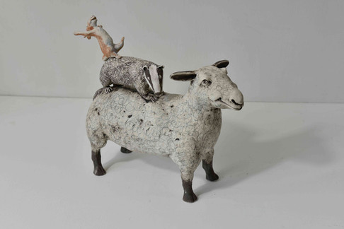 sheep, hare and badger - 'the joys of life'