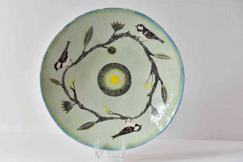 pale bluegreen plate, snowy circular bra