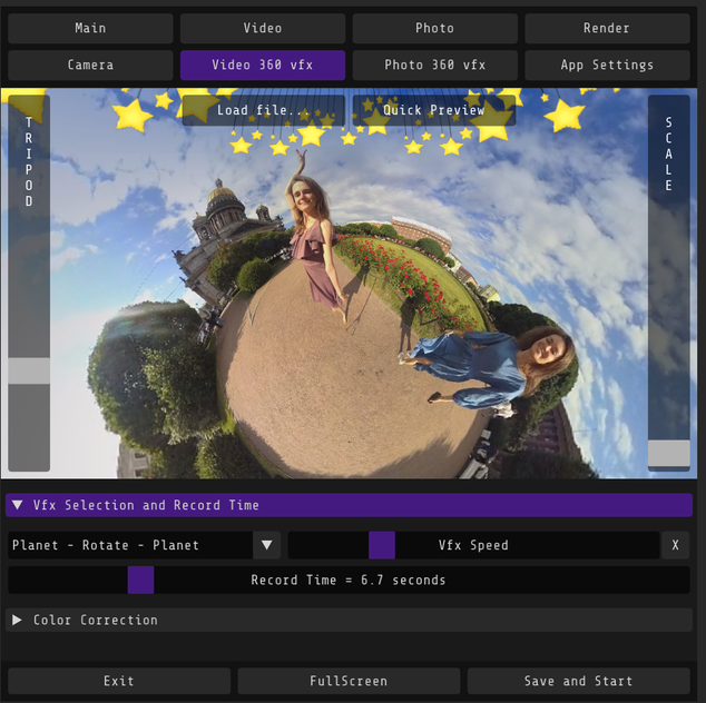 VFX Video Settings