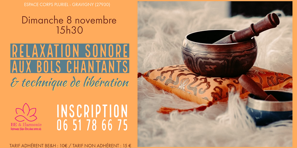 Relaxation sonore aux bols chantants