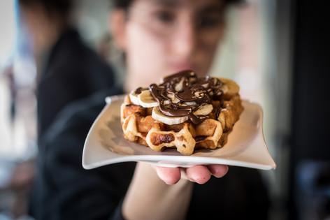 Banana & Nutella Belgian Waffle