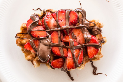 Strawberry & Nutella Waffle