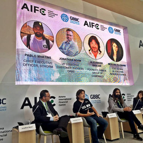 Alexander Shulgin speaking at Blockchain Central by GBBC and AIFC in Nur-Sultan