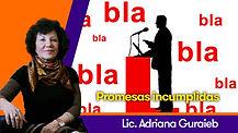 Promesas incumplidas - Lic. Adriana Guraieb