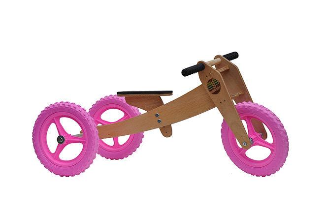 Woodbike 3em1 (rosa)