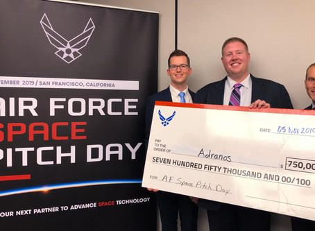 Air Force Awards Adranos, Inc. Phase II SBIR Contract at Space Pitch Day