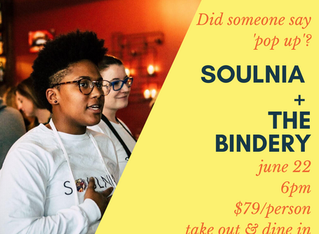 SoulNia + The Bindery Pop Up