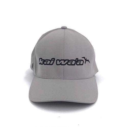 Kai Waʻa Grey FlexFit Hat
