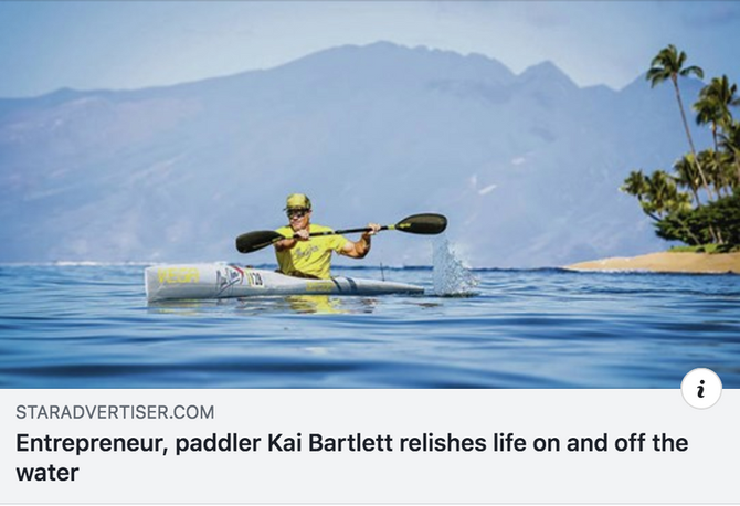 Entrepreneur, paddler Kai Bartlett relishes life on and off the water