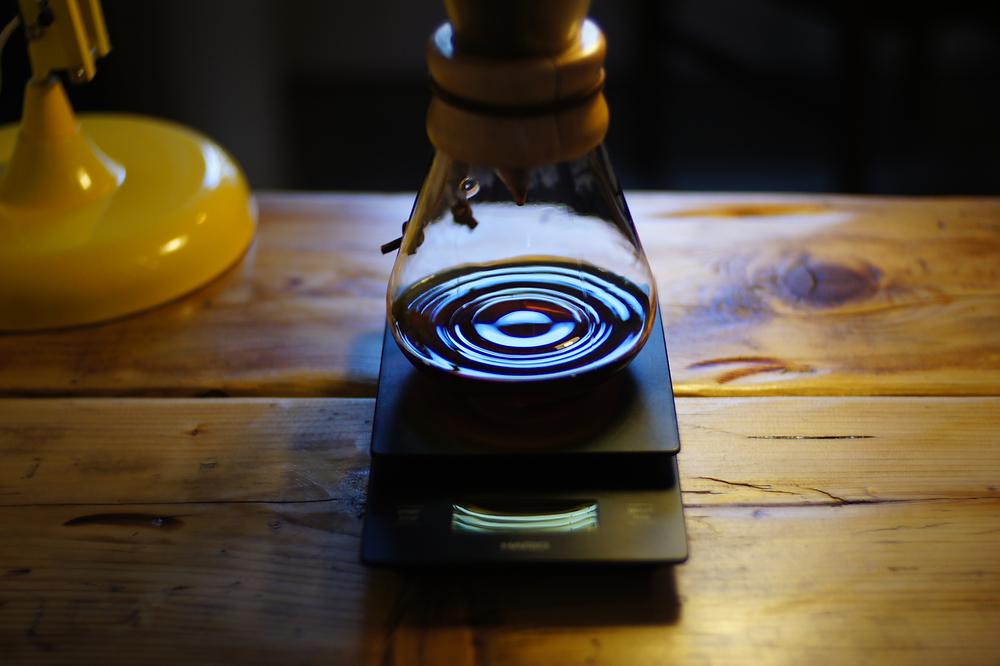 Coffee rippling when brewing a Chemex