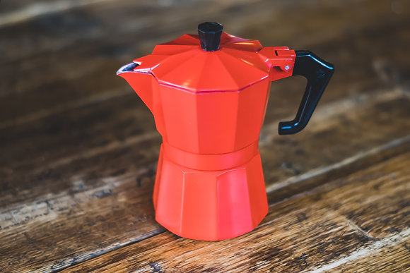 Small Red Moka Pot