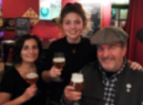 David Burstein, founder of Eurpean Beer Tours, enjoys a beer with friends