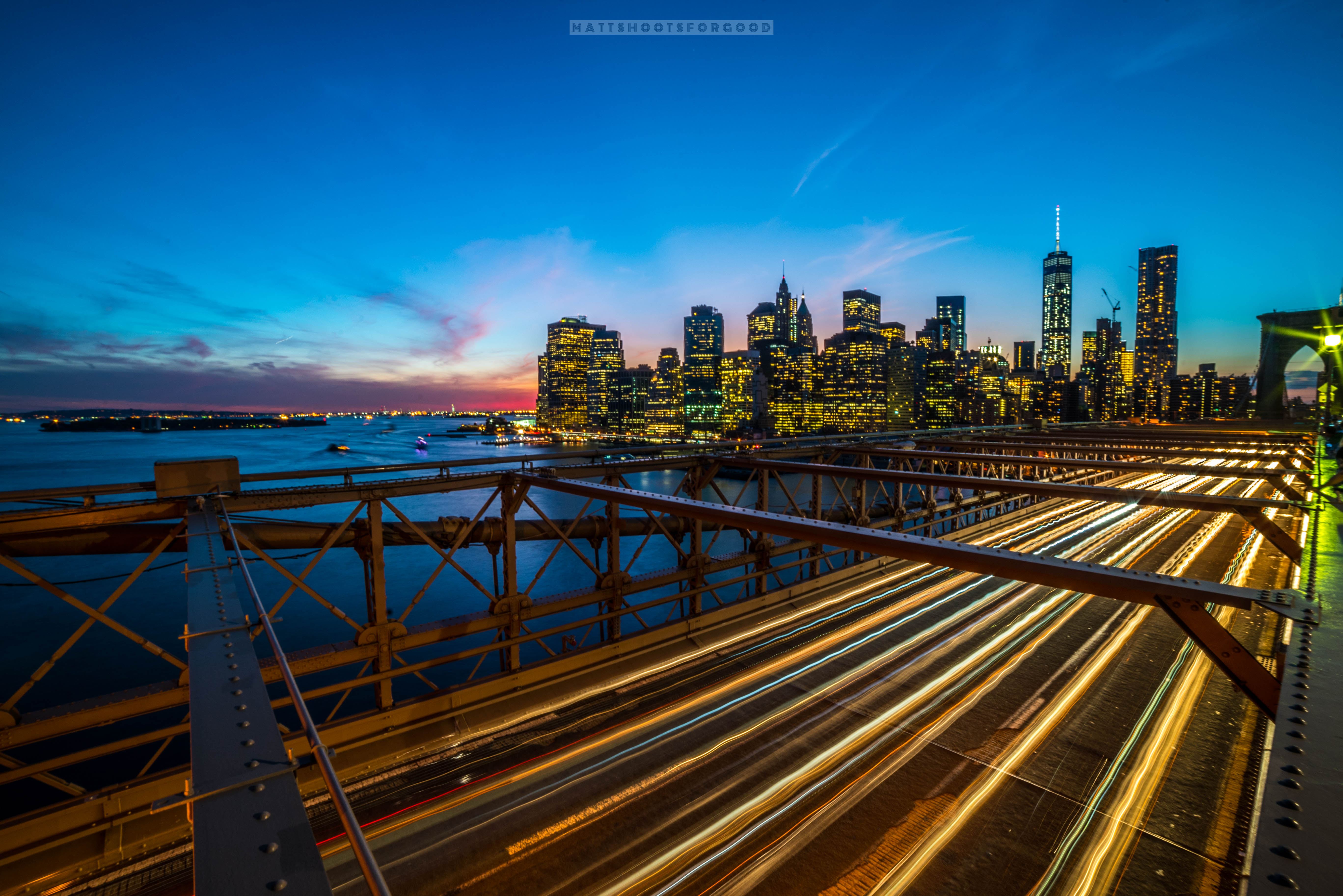 Brooklyn Bridge Long Exposure Skyline NYC