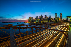 Brooklyn Bridge Long Exposure Skyline NYC