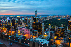 NYC Top of the Rock Central Park Sunset