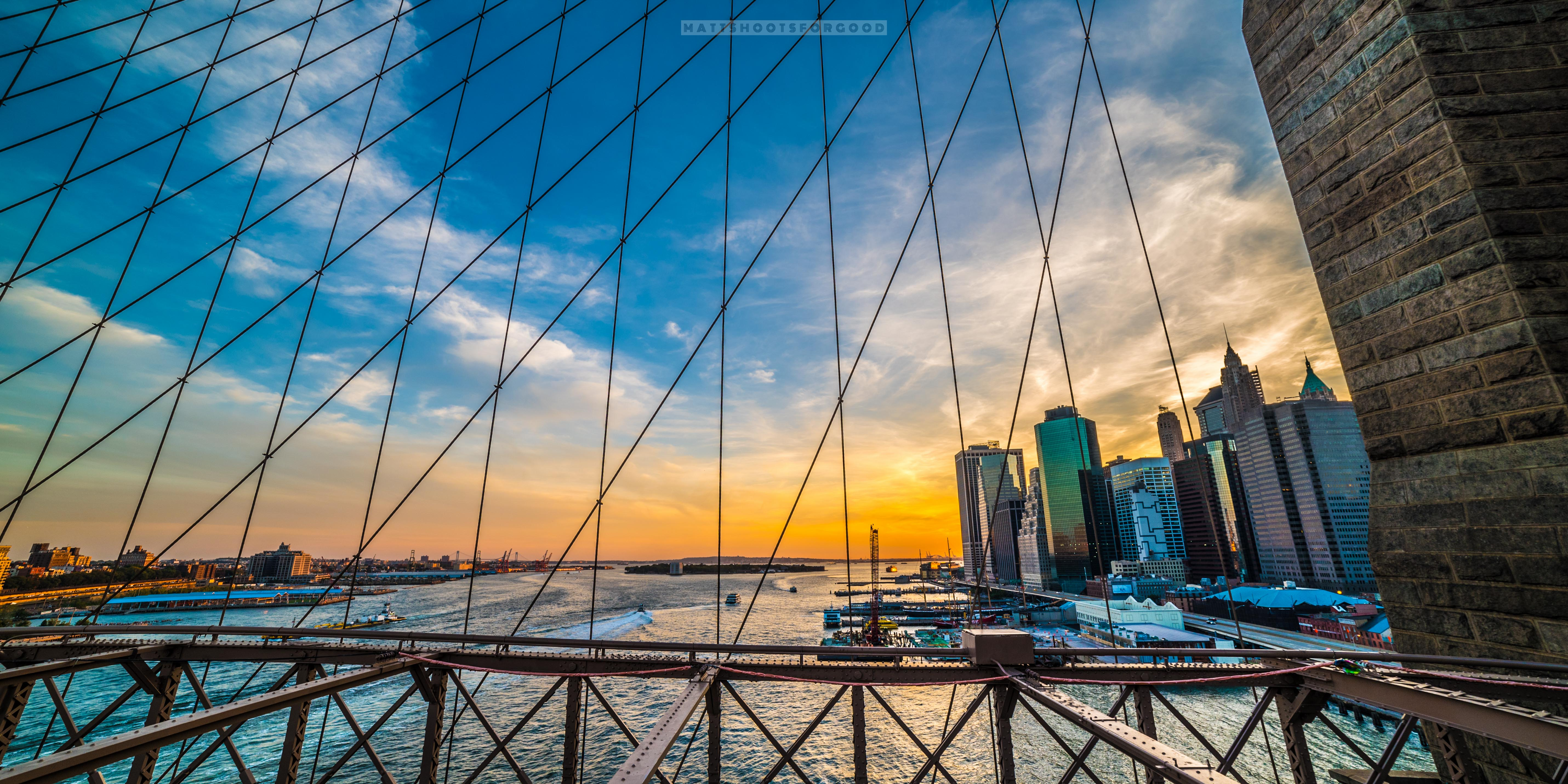 NYC Skyline Through the Wire