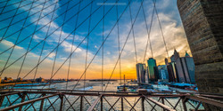 NYC Skyline Through the Wire
