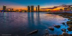 Miami Florida Skyline Sunset