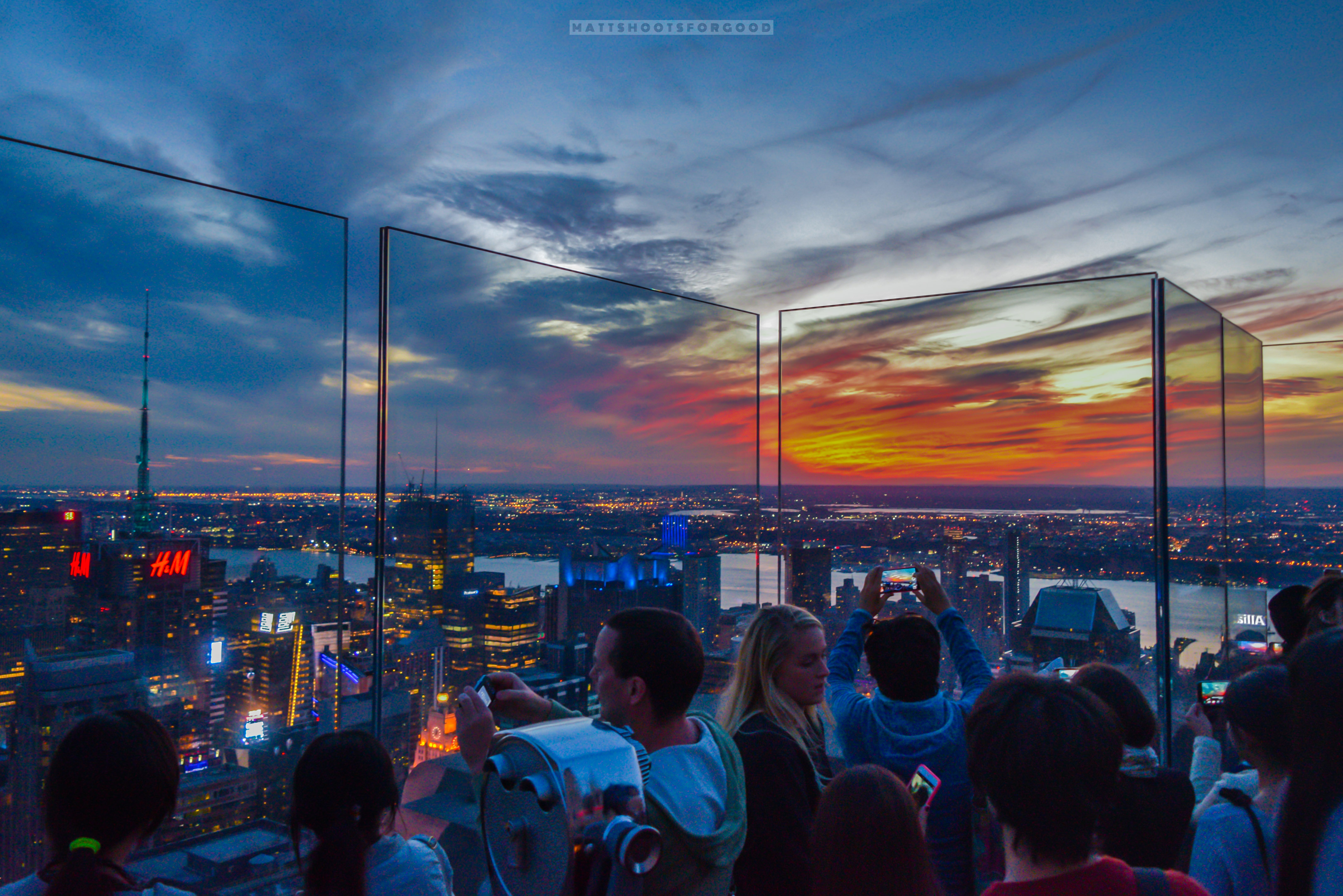 NYC Top of the Rock Sunset Madness
