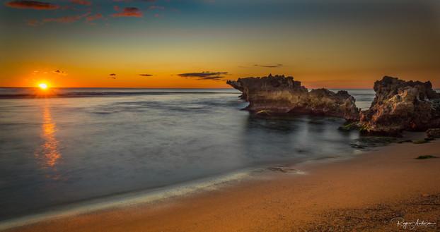 Sunset on North Trigg Beach