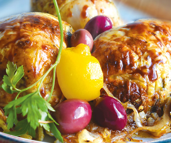 CHICKEN M'QALI WITH OLIVES