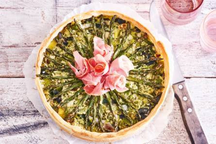 Quiche met asperges en broccoli