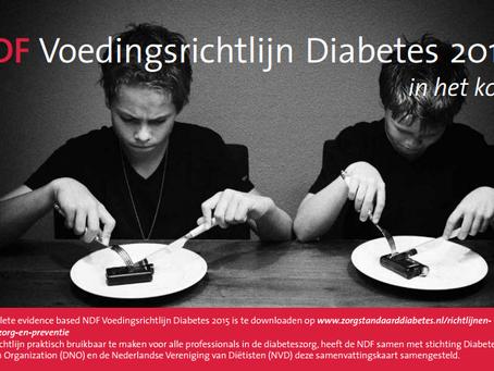 'Voedingsrichtlijn diabetes' - NDF