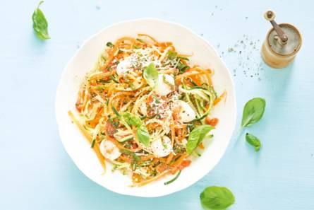 Pompoen- en courgettespaghetti