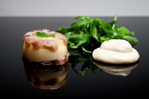 Huevos en Gelatina con Lacón