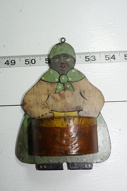 Wooden Match Holder Safe - Woman