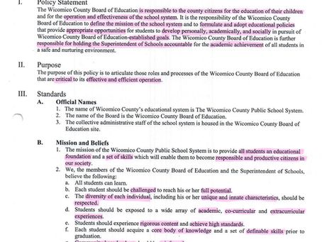 WCBOE School Board Governance Policy - Roles, Responsibilities, & Obligations of Elected Members