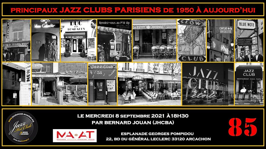 85 - Principaux Jazz Clubs Parisiens de 1950 à nos jours - Annonce.png