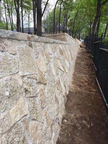 Stone Retaining Wall Residential